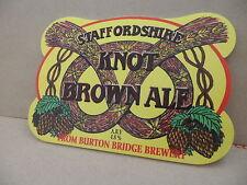 Burton Bridge Knot Brown Ale Beer Pump Clip Face Pub Bar Collectible 25