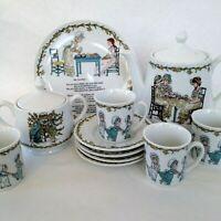 11 Piece Tea Set Kate Greenaway Illustrations Museum of Fine Arts Boston Vintage