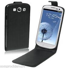 Funda Cartera Vertical Negra Ecopiel para Samsung Galaxy S3 i9300 Cover