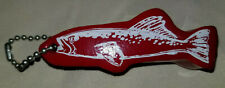 Vintage Nos Floating Key Chain Red Trout Fish Shaped Float Boat Water