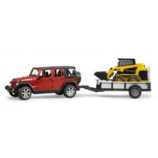 - BRUDER Jeep Wrangler Rubicon With Trailer and Cat Skid Loader 02925