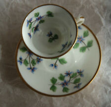MINTON MINIATURE CUP & SAUCER HAND PAINTED COLLECTIBLE