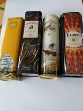 Collectible Scotch Whiskey Tins Cutty Sark, Teacher's, Aberlour & Famous Grouse