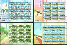Taiwan R O China 2013 Bike Paths of Taiwan Postage Stamps Full S/S Bicycle