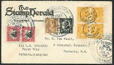 1st Flight Detroit - Cleveland - Kitchner Ont Canada # 136 Blk 4 - 1926   S1585
