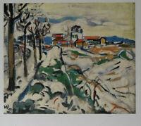Maurice de VLAMINCK : Collines à Chatou - LITHOGRAPHIE signée, 1958 par Mourlot