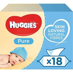 Huggies Pure Baby Wipes 18 Packs 1008 Wipes Total