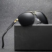 Black Shades Polarized Aviator Sunglasses Mens Outdoor Sports Driving UV Glasses