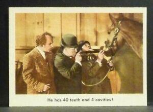 """Fleer Trading Card 1959 THREE STOOGES #66 """"He Has 40 Teeth"""" NM-MT Very Nice"""