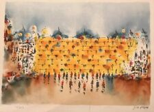 "EDWARD BEN AVRAM ""THE WALL"" HA kotel limited edition lithograph 116/250"