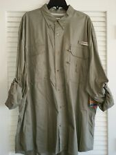 "MAGELLAN ""LAKE FORK"" FISHING SHIRT UPF20 - 4XL  MOSS    (10)"