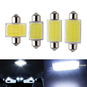 100Pcs COB Festoon 12SMD 1.5W Car LED Bulb Interior Indicator Light White 12V