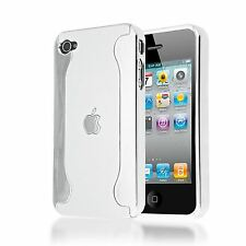 HEAVY DUTY CHROME PLASTIC IMPACT HARD BACK COVER CASE FOR APPLE IPHONE 4