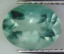 1.84 CT 100% NATURAL GREEN FLUORITE OVAL FACETED CUT GEMSTONE  6 X 8 MM LOOSE