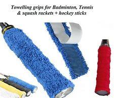 4 x Self Adhesive TOWEL TOWELLING GRIP GRIPS Badminton Tennis Squash assorted