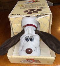 Vintage 1985 Tonka Toys Pound Puppies Plush White Dog With Long Ears & Box #7805