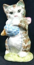Beatrix Potter Miss Moppet Cat Figurines Vintage Porcelain Glass Figure England