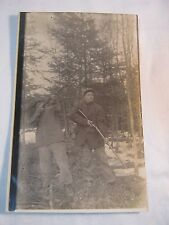 HUNTING ANTIQUE PHOTO EARLY 1900'S  POSTCARD       T*