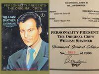 Star Trek Original Crew 1 Signed #ed Limited Edition Buzz William Shatner HTF NM