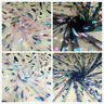 Colorful Feathers Mesh Fabric Tulle Sheer Net Skirt Costume Cloth By Metre Decor