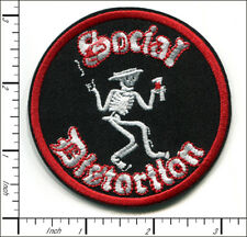 20 Pcs Embroidered Iron on patches Social Distortion Skeleton Music Band AP056sE