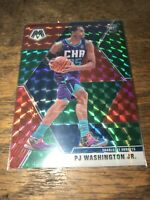 2019-20 Panini Mosaic Choice PJ Washington Jr. Red Green Prizm Rookie RC #213