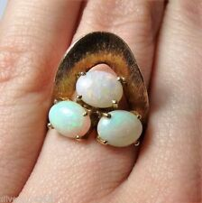Ring Opal Yellow Gold 18k Vintage & Antique Jewellery