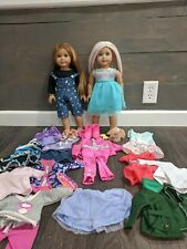American Girl Doll Lot , Two Dolls, Clothes and Accessories