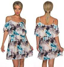 Geblümte Damenkleider im Tuniken-Stil in Größe 38