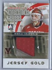 2015-2016 ITG Final Vault 11-12 Canada vs World Nikolai Khabibulin Jsy Card 1/1