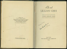 Book: Life and Lillian Gish - 1932 - Albert Bigelow Paine - Signed - 1st