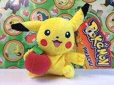 Pokemon Plush Apple Pikachu Hasbro 2005 doll soft figure stuffed toy USA Seller