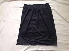 """BLACK MINI  HALF SLIP petticoat FANCY HEM 8 10 12 14 16 18 20 22   length 18"""""""