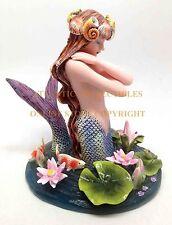 Sheila Wolk Koi Fish and Mermaid Sorrow Hundred Tears Sculpture Figurine Statue