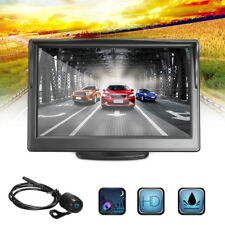 "5"" LCD Car Rear View  Monitor + Wired Reverse Waterproof Wide Angle Camera Kit"