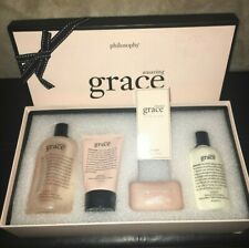 NEW In Box Sealed Philosophy Amazing Grace 5 Piece Set Rare Pre-Coty Gift Set