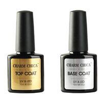CHARM CHICA Top Coat Gel Base Coat Primer UV Led Nail Polish Soak Off Manicure