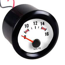 """Car Vehicle Black Shell 2"""" 52mm Pointer Indicator Volt Voltage Gauge Meter Dials"""