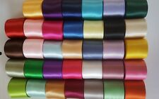 """170 yards -1 1/2"""" DOUBLE FACED SATIN ribbon solid lot"""