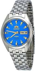 Orient FAB00009L Men's Classic 3 Star Stainless Steel Blue Dial Automatic Watch