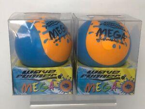"""2x WaveRunner #1 Mega Water Skipping Ball 3.5"""" ORANGE & BLUE color"""