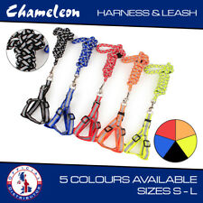 More details for step-in safety nylon reflective dog puppy adjustable harness ,lead set s,m,l