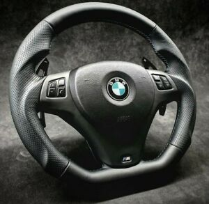 BMW Steering Wheel custom flat bottom PADDLE   E90 E92 E93 335i  M3 135i 328i