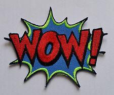 """NOVELTY CARTOON SUPERHERO """"ACTION BURST"""" SEW ON / IRON ON PATCH:- WOW!"""