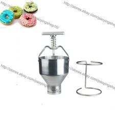 Manual Donut Depositor Medu Vada Dropper Plunger Dough Batter Dispenser Hopper