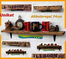 Wandregal Regal Brett Holzregal Industrie altes Holz antik Küchenregal Altholz !