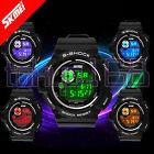 SKMEI Shock Resist Changing Multicolour Flash LED Digital Sports Watch ~tokyo168