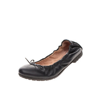 DRIM Kids Leather Ballerina Shoes Size 38 UK 5 US 6 Bow Lug Sole Made in Italy