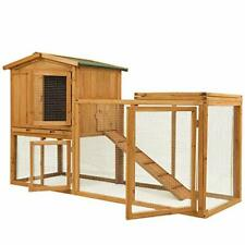 Chicken Coop Large Wooden Outdoor Bunny Rabbit Hutch Hen Cage with