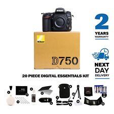 New Nikon D750 24.3MP DSLR Camera Body, Multiple Languages, 2 Year Warranty